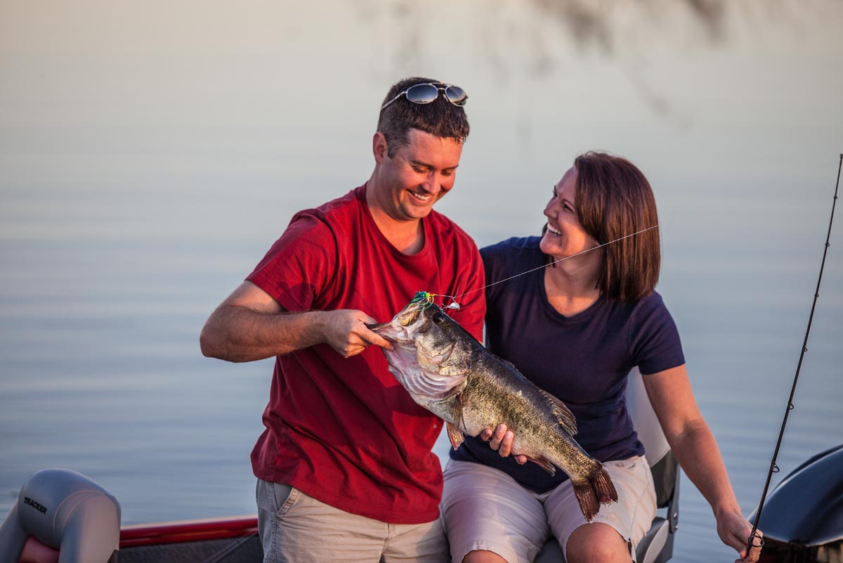 couple and fish